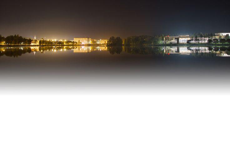 Kajaani by night. Photo by Simone Schröter