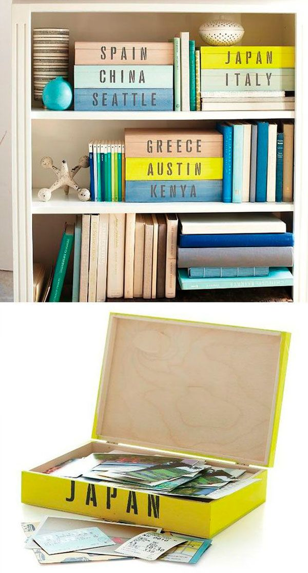 photo foto box pintura diy caja fácil