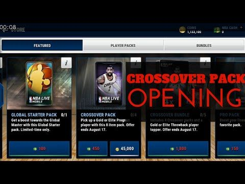 CROSSOVER PACK OPENING + Pr NBA LIVE MOBILE