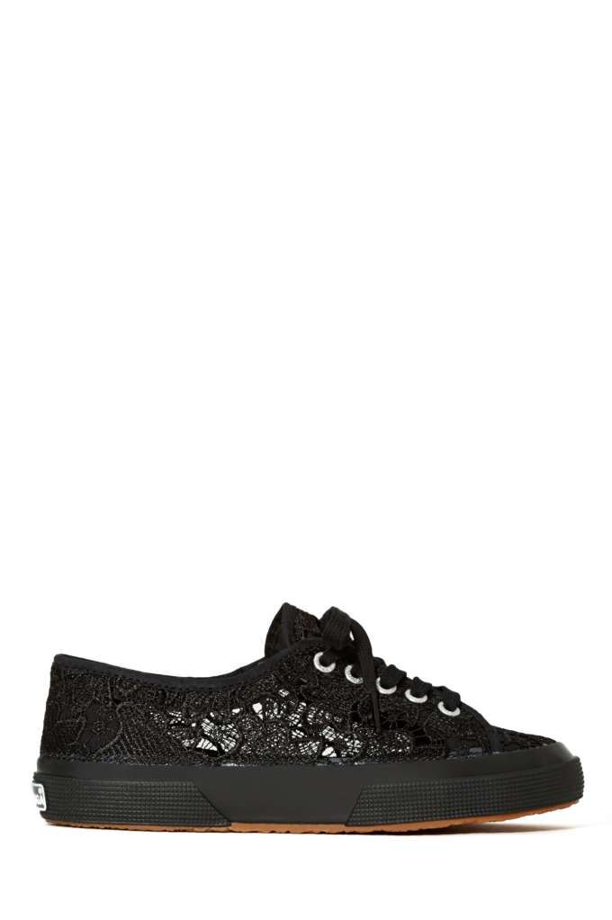 Superga Macramew Sneakers - Black