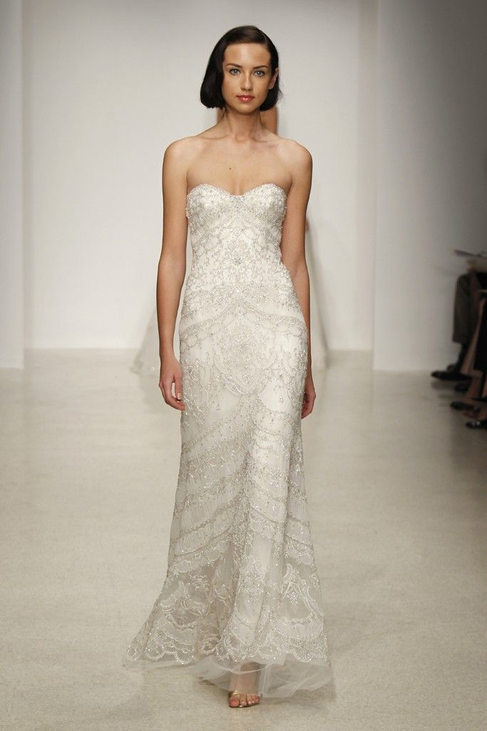 Romantic, Dramatic Wedding Dresses from the Spring 2013 Kenneth Pool Collection | OneWed