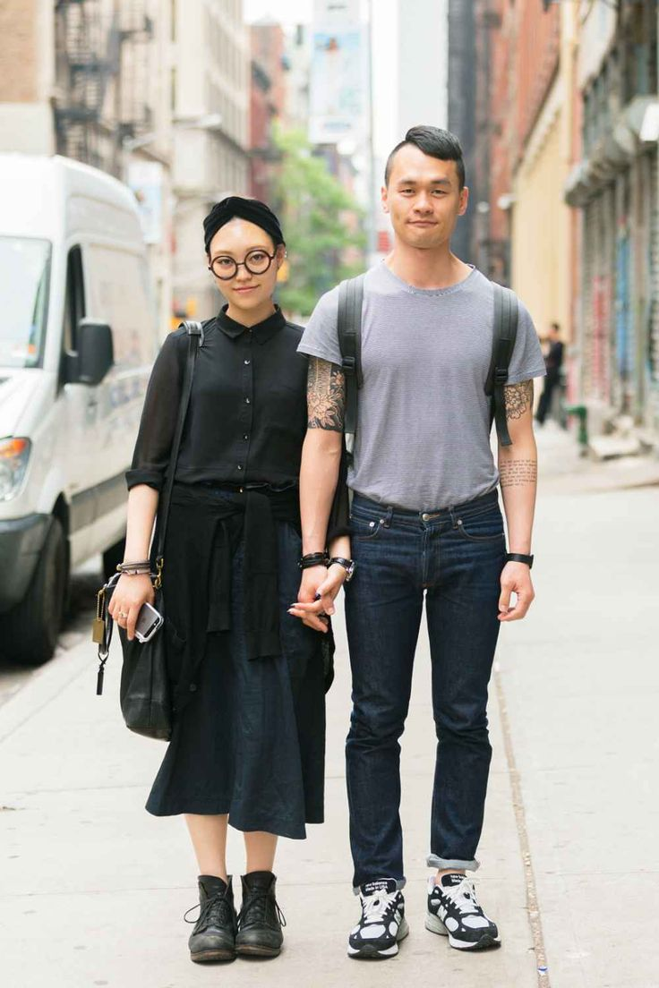 Jia Choi and Terry Jang complement each other's avant-garde style.