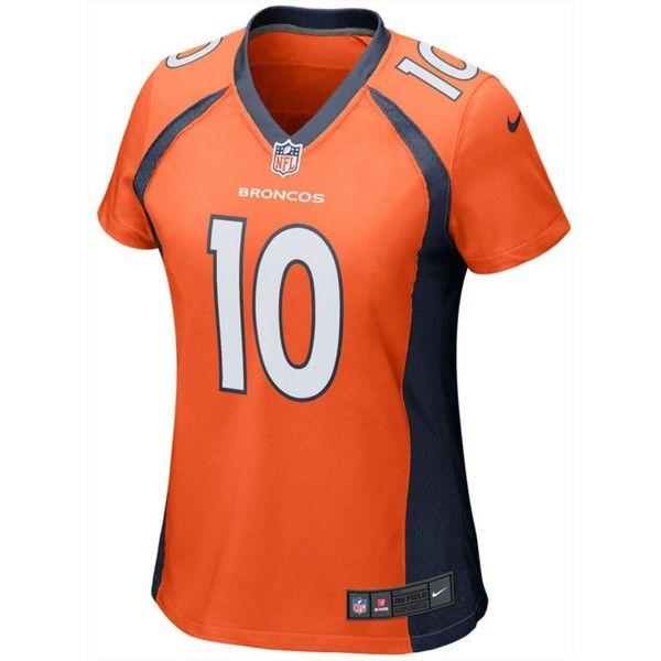 Nike Women's Emmanuel Sanders Denver Broncos Game Jersey (735 GTQ) ❤ liked on Polyvore featuring activewear, activewear tops, nfl jerseys, nike sportswear, nike, nfl sportswear and nike jerseys