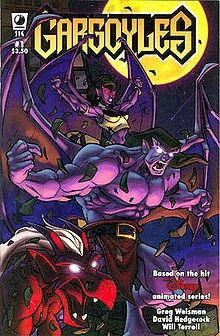 gargoyles!! by far the coolest show ever.