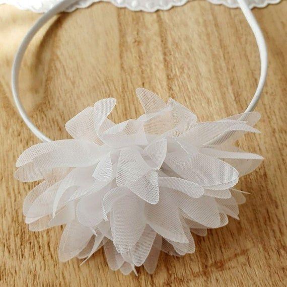 Haarschmuck Kommunion Kopfschmuck Hochzeit Brautschmuck Weiss Blume – zuzi's deko