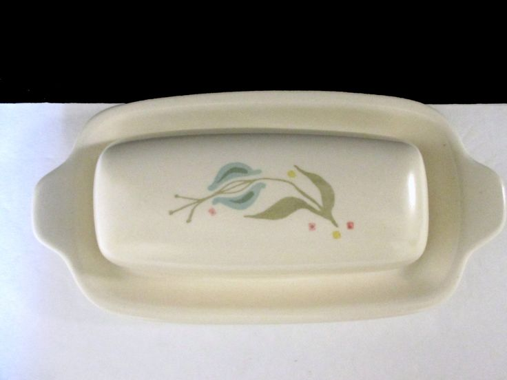 Metlox Vernonware Poppytrail XX Shape Blueberry Hill Covered Butter Dish With Lid by MarieWarrenArts on Etsy