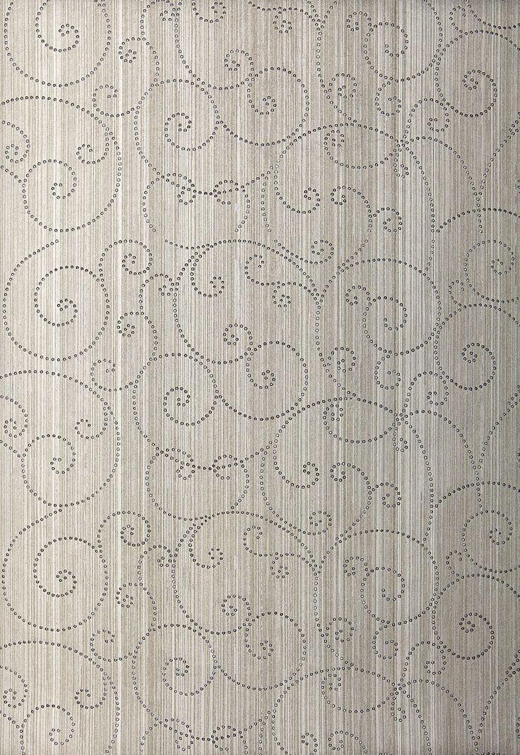 Beaded Scroll Wallpaper | Modern Glamour Wallpaper | Schumacher Wallpaper Australia