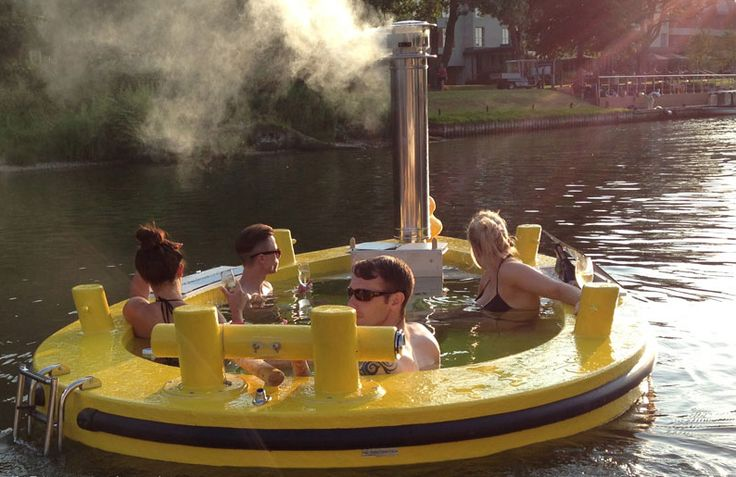 The wood fired hot tub that 39 s also a boat wood fired hot for Walden 7 piscina