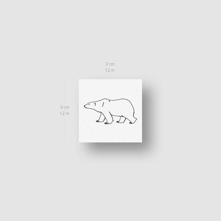 Polar Bear Temporary Tattoo Set of 3