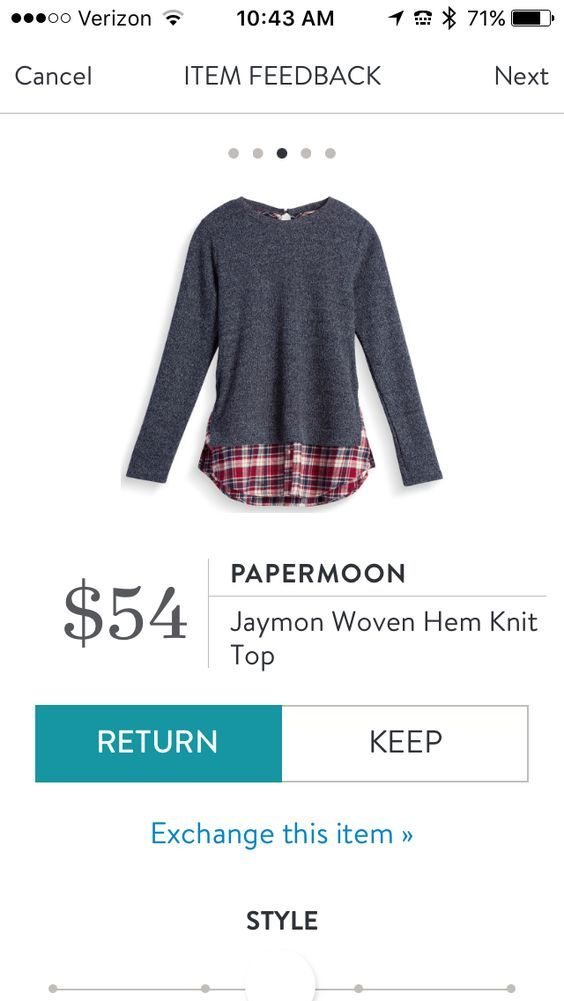 Stitch fix Papermoon Jamon Woven Hem Knit Top Cute with skinnies!