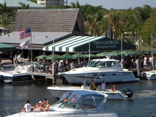 """Two Georges"" in Boynton Beach Florida! A great place to eat & have fun!"
