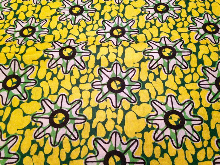 """Stoff afrikanisch - afrikanischer Stoff: Kitenge """"sunflower""""  - ein Designerstück von Madukani bei DaWanda"""