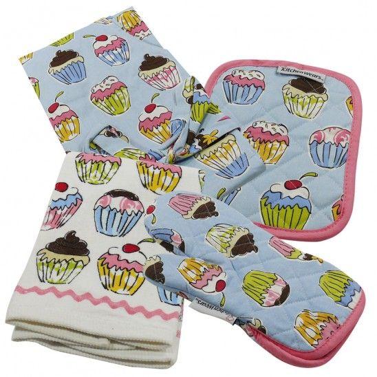 Cupcake kitchen linen collection
