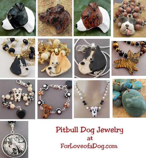 Pitbull and Rottweiler Dog Jewelry Christmas Gifts at ForLoveofaDog | Talking Dogs at For Love of a Dog | Bloglovin'