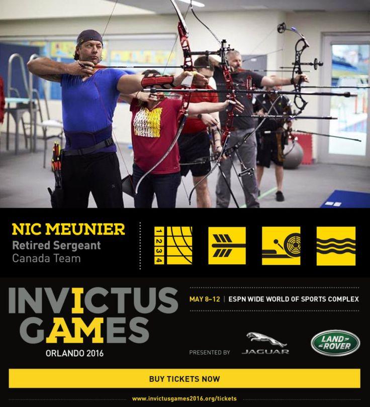 Nic Meunier and Invictus Games 2016 Invictus games