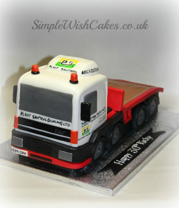 Driving Lorry Birthday Cake