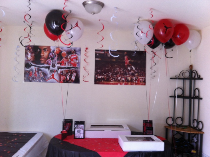 Our Michael Jordan Baby Shower Theme. To Get The Decals On The Balloons Go  To