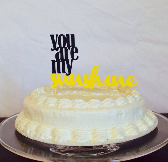 You Are My Sunshine Paper Cake Topper Baby Shower Cake