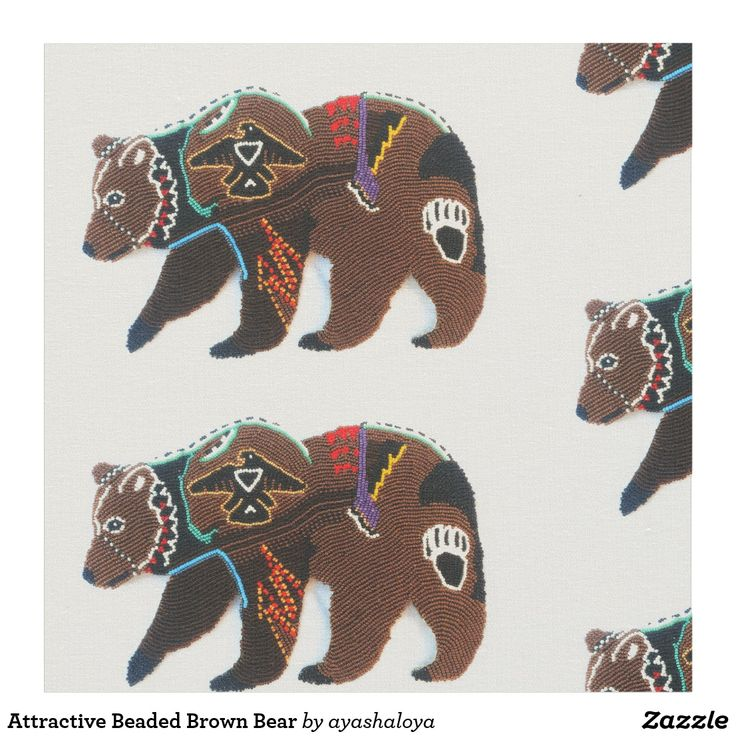 Attractive Beaded Brown Bear Fabric Education Beads