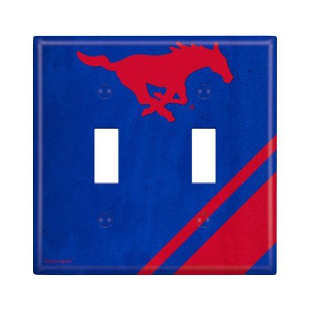 Southern Methodist University Double Toggle Light Switch Cover