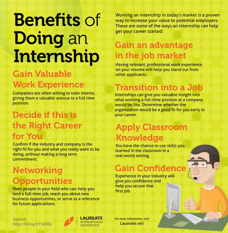 Have you thought about doing an internship perhaps these