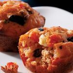 Mini Greek Pizza Muffins -no bell peppers-would make a savory still