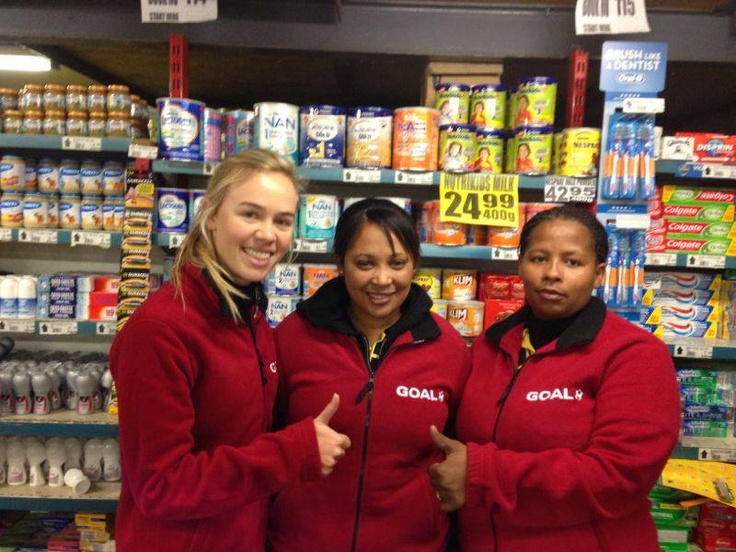 Completed work :)   Giving their new, warm jackets the 'thumbs up'!   Some of the staff at our Customer: GOAL Wholesalers  Protea Road, Philippi   To find out about our clothing options for your staff contact pact@live.co.za or see the full Winter Clothing Catalogue pinned to the top of this page: www.www.facebook.com/pactbrandsolutions