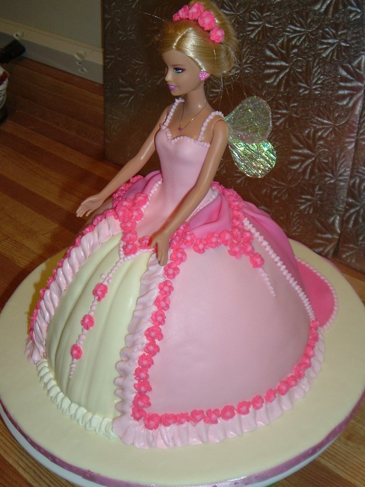 Barbie Doll Cake Decorating Ideas : Fairy Princess Barbie cake made with the Wilton Wonder ...