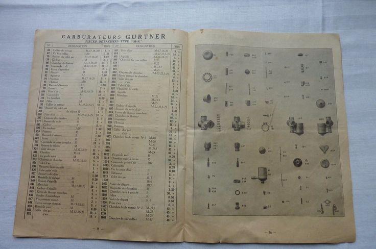 GURTNER-BOUGIES MICA-AVERTISSEURS -PIECES DETACHEES TARIF  ETC ... 1935- in Collections, Objets publicitaires, Publicités papier, Autos, tracteurs | eBay