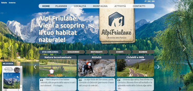 Per il #sitointernet di #Alpifriulane abbiamo curato l'impostazione grafica www.alpifriulane.com