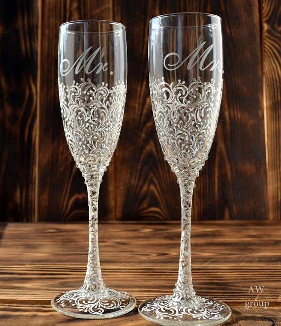 Wedding Champagne Flutes Silver Wedding Champagne Glasses Toasting Flutes Silver Wedding Flute Set Personalized Wedding Decor Bride Groom Wedding Wine Glasses Wedding Champagne Flutes Wedding Flutes