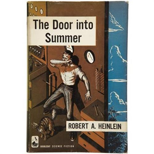 Robert A. Heinlein. The Door Into Summer A very enjoyable romantic time travel novel.  Heinlein reportedly wrote this book in 13 days.