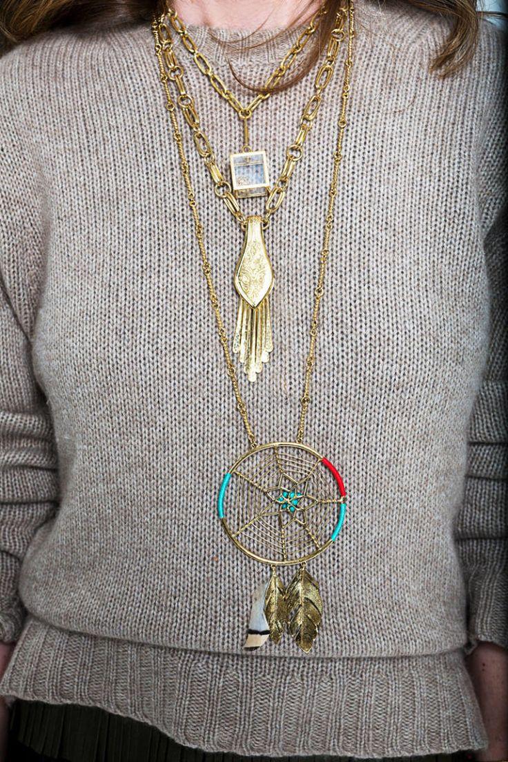 Sonia Rykiel skirt, Celine sweater, Sonia Rykiel shoes, all jewelry Aurélie Bidermann.   - HarpersBAZAAR.com