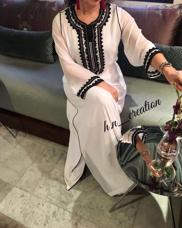 Caftan travaillé avec mâalem brodé et perlé by H&N ✨ #HetN #creation #couture #djellaba #gandoura #caftan #tenue #robe #broderie #perlage #handmade #quality #morocco