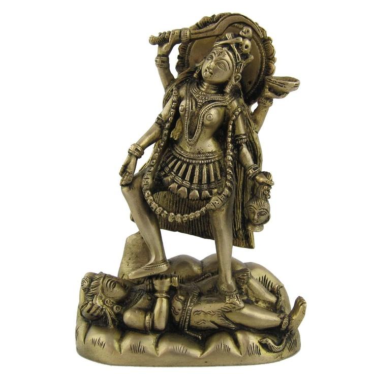 Amazon.com: Hindu Goddess Kali Brass Sculpture 5 x 2.75 x 7.5 inches: Home & Kitchen