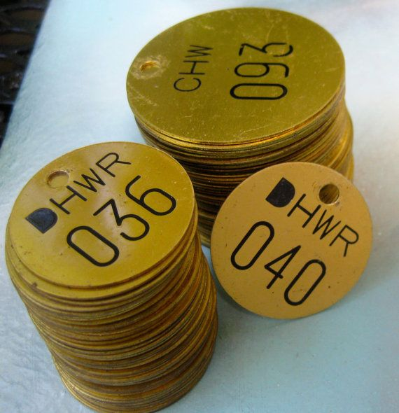 vintage brass number tag jewelry findings steampunk by pinksupply