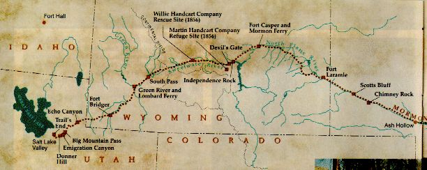 mormon pioneers | Mormon Pioneer Trail from Nauvoo to the Salt Lake Valley