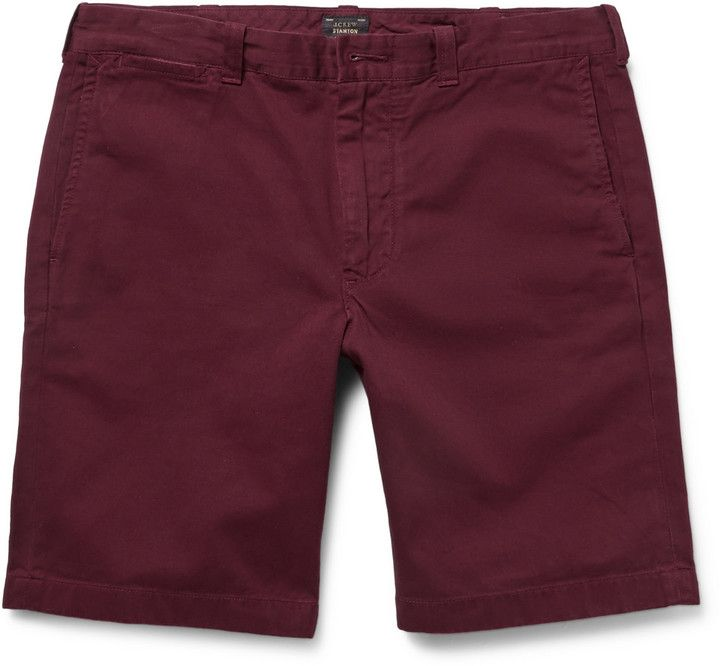 $65, J.Crew 9 Stanton Cotton Twill Shorts. Sold by MR PORTER. Click for more info: https://lookastic.com/men/shop_items/211601/redirect