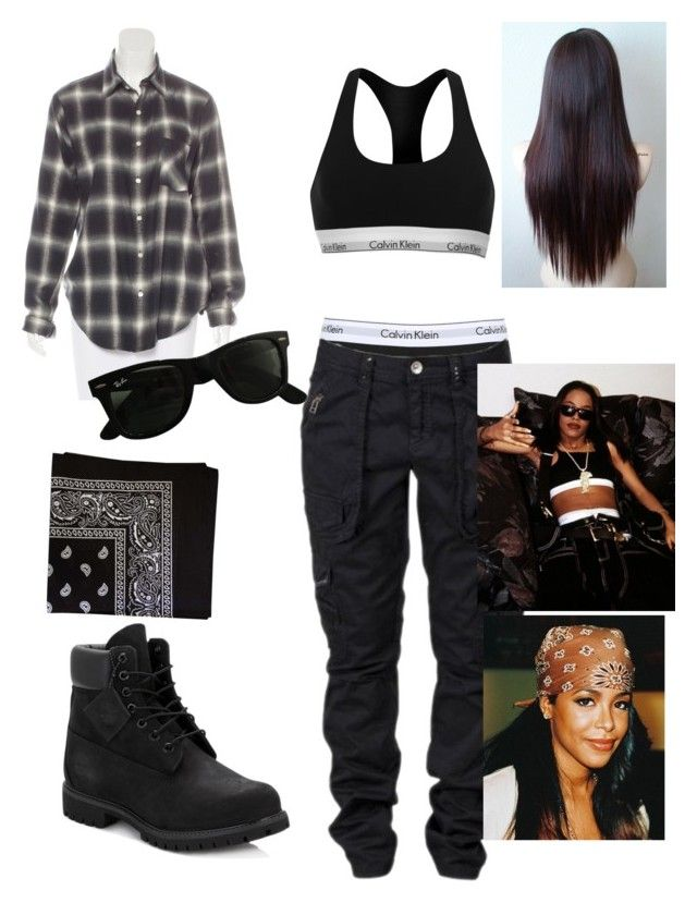 Aaliyah 90s inspired outfit