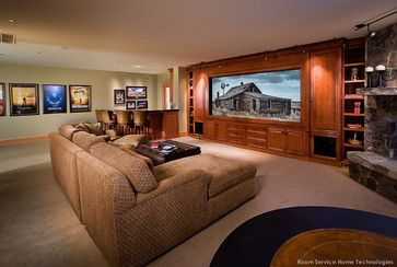 Individual Projects We've Completed - traditional - media room - portland - Room Service Home Technologies