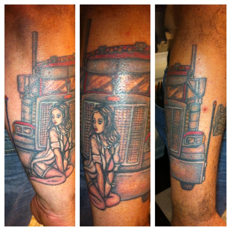 8 best images about big rig tats on pinterest semi for Wv tattoos designs