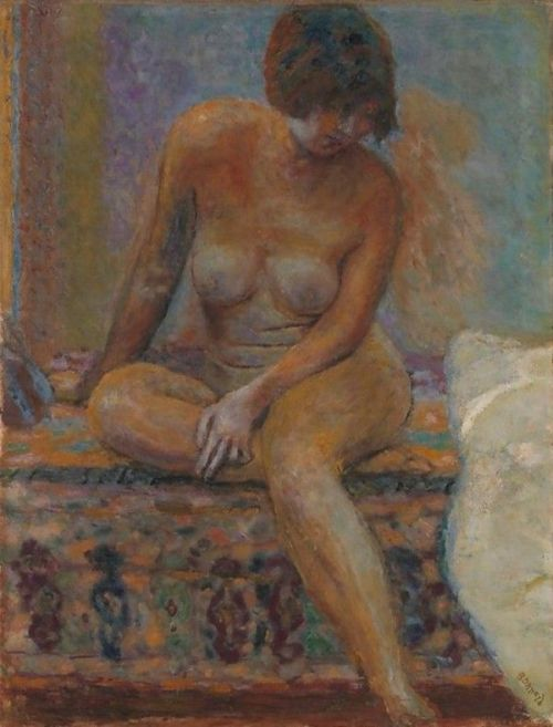 Seated Nude - Pierre Bonnard , 1919  French, 1867-1947  oil on canvas, 83.8 × 63.8 cm