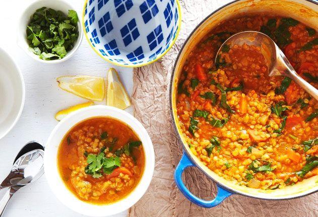 LINTE cu SPANAC și GHIMBIR – mâncare aromată, de post