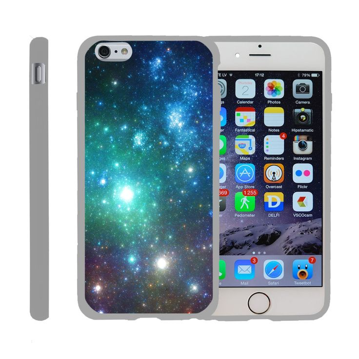 Apple iPhone 6s Plus Case SNAP SHELL Slim White Snap On Case Protector - Colorful Galaxy Specs