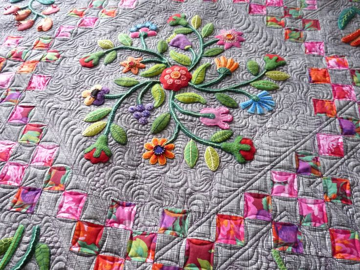 applique quilts | Sewing & Quilt Gallery: Wonderful Wool Applique Quilt