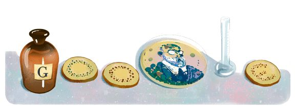 Celebrating Robert Koch, German microbiologist, Sunday, December 10, 2017 who received the Nobel Prize on this day in 1905.  As Google explains, Koch identified the bacterium for diseases including anthrax, cholera and tuberculosis.