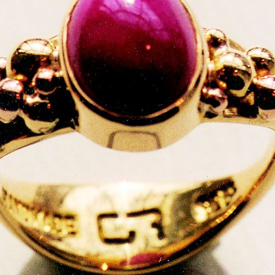'I wish I was a baller' yellow gold ring.