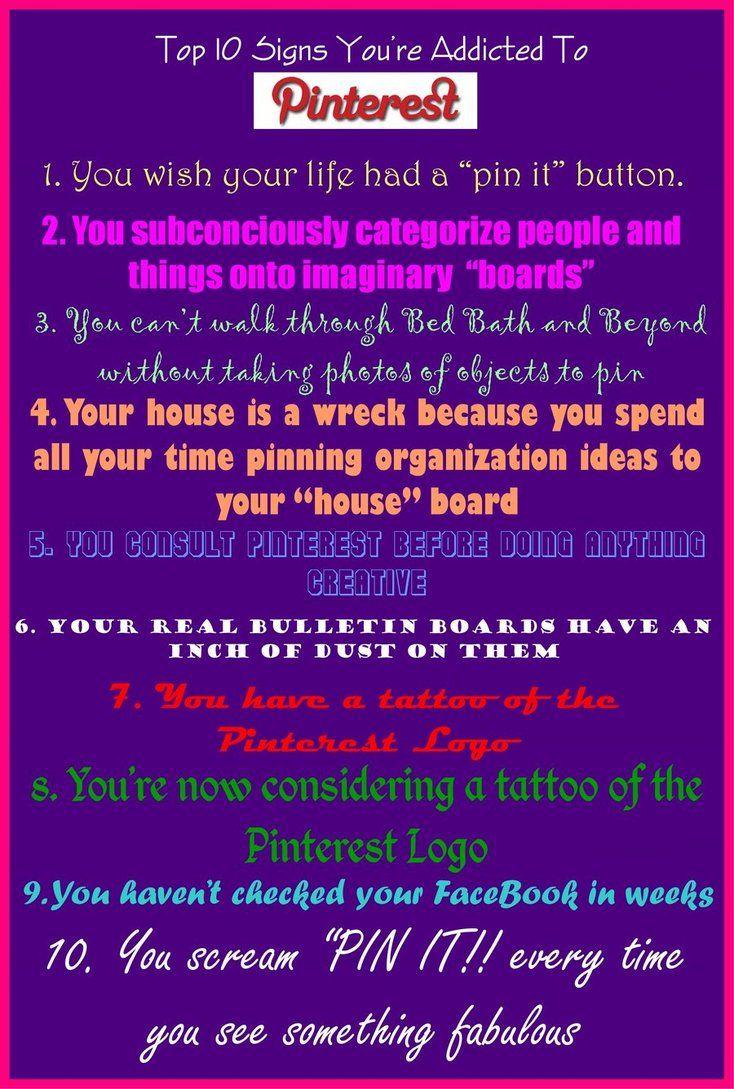 Pinterest addict by ~sarahredhead on deviantART: Button, Random, So True
