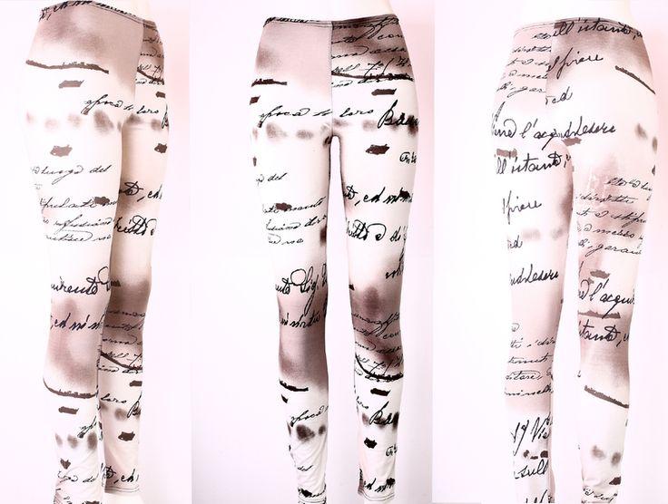 Leggings -  NARA  Beschriftete Leggings/Hose Gr 36/S  - ein Designerstück von Berlinerfashion bei DaWanda
