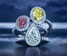 De Beers Aura Collection of Coloured Diamonds